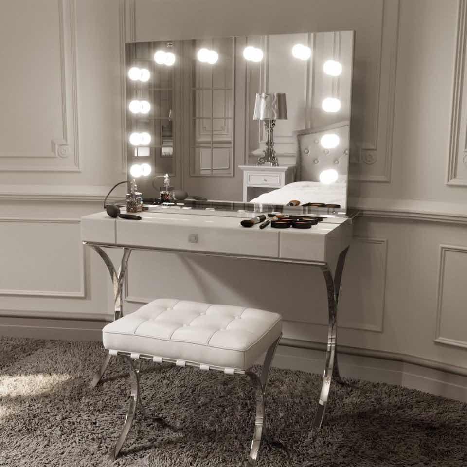 30 tocadores con espejo con luces que te encantarn