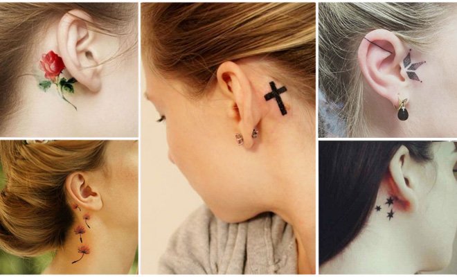 30 Ideas De Tatuajes Minimalistas Para Las Orejas