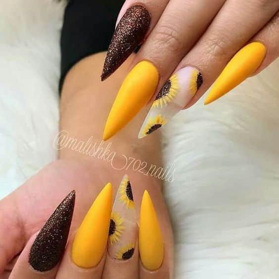 Diseños Uñas Acrilicas Amarillas Decoración De Uñas