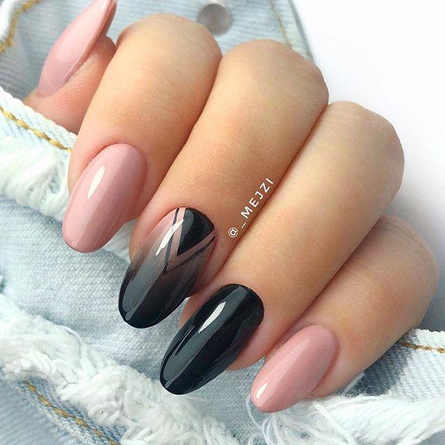 Diseños De Uñas Acrilicas En Color Negras Decoración De Uñas