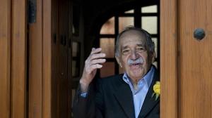 El escritor colombiano Gabriel García Márquez, en su última aparición pública con motivo de su 87 cumpleaños.