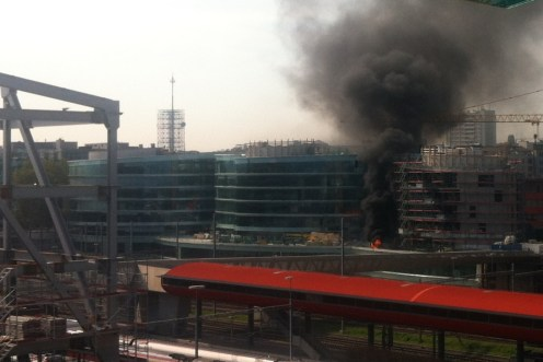Incendio Ginebra Maison de la Paix Olivier Gardet