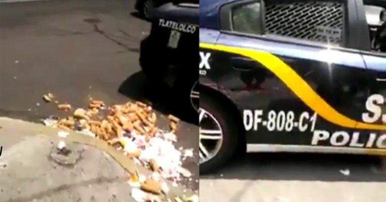 Policías de la CDMX tiran al piso los merengues de un vendedor y este, impotente, rompe en llanto.