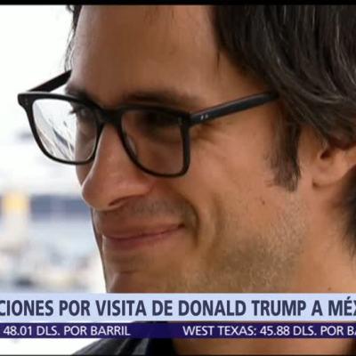 Gael García habla de la visita de Trump a México