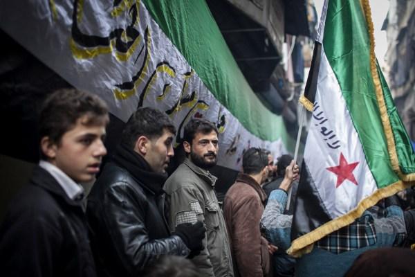 Protestas en Alepo, Siria en Enero del año 2013.