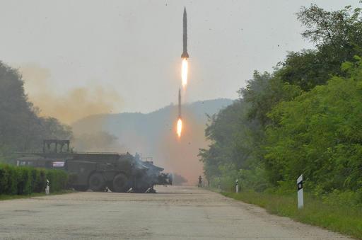 Lanzamiento de misil, Corea del Norte, Pyongyang,
