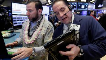 Corredores en la Bolsa de Nueva York