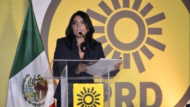 Alejandra Barrales, la presidenta nacional del PRD. (Twitter: @PRDMexico, archivo)