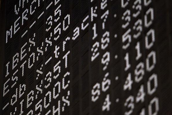 Tablero de la Bolsa de Frankfurt (Getty Images)