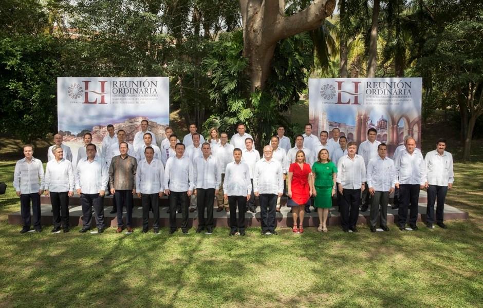 La Conferencia Nacional de Gobernadores apoya al presidente Peña Nieto (Notimex)