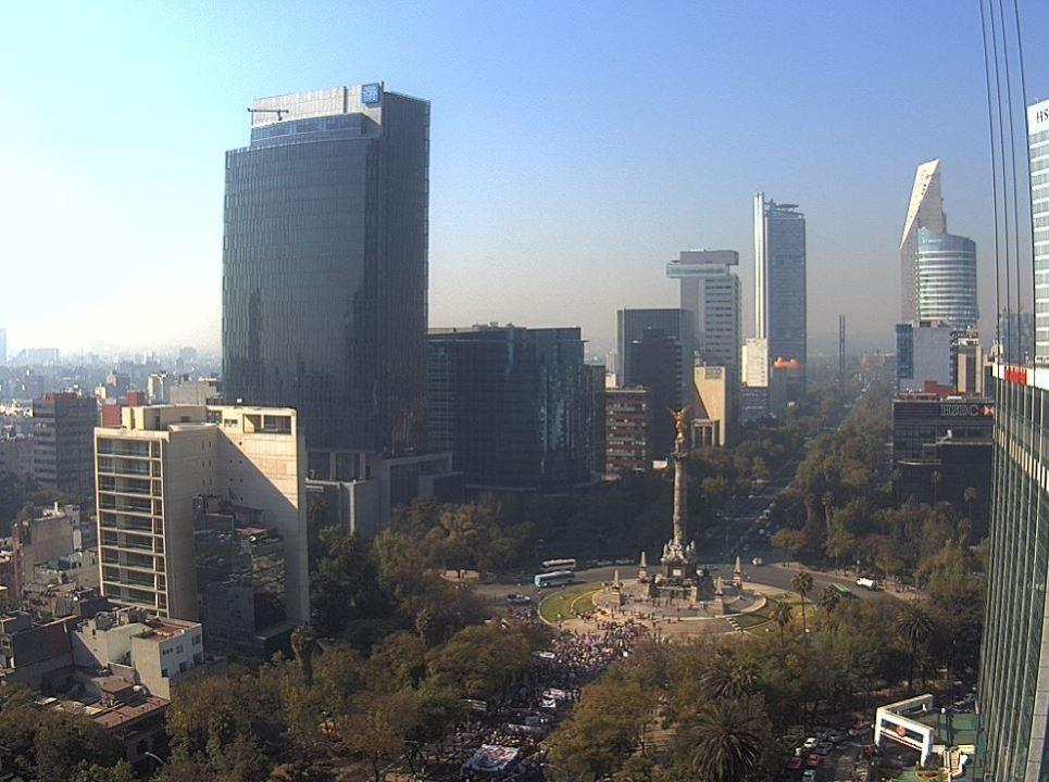 Valle de México presenta mala calidad del aire. (@webcamsdemexico )
