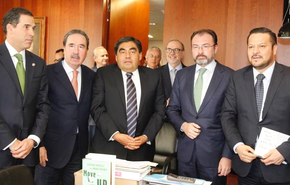 Reunión del secretario de Relaciones Exteriores con senadores (Notimex)