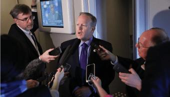 El portavoz de la Casa Blanca, Sean Spincer, anunció la salida de Estados Unidos del TPP.