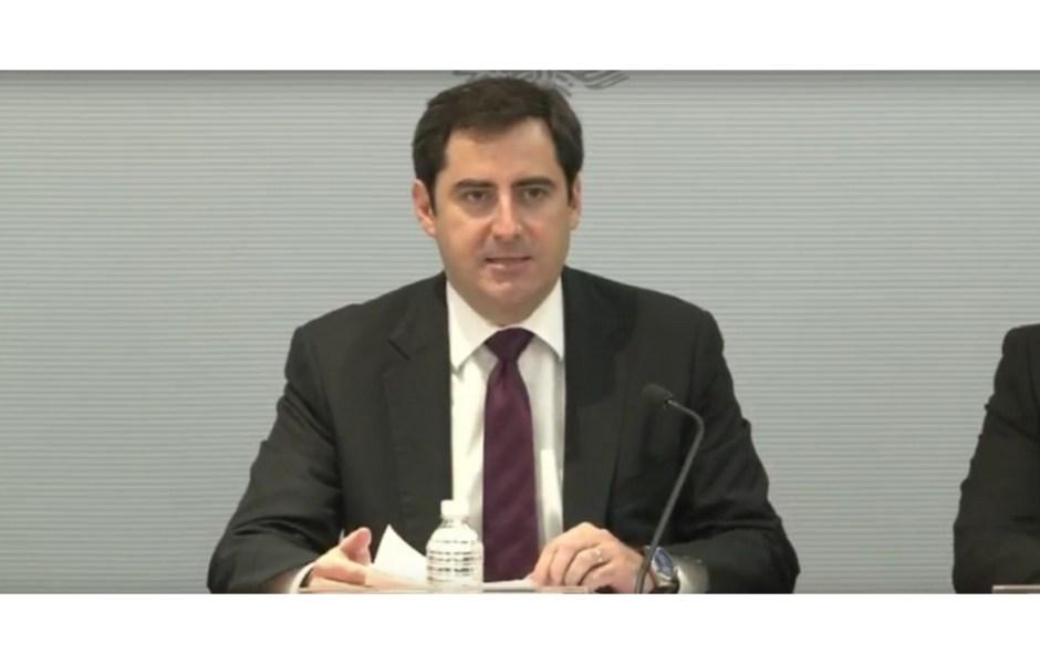 El titular de la unidad de planeación económica de la Secretaria de Hacienda, Luis Madrazo Lajous (Noticieros Televisa)
