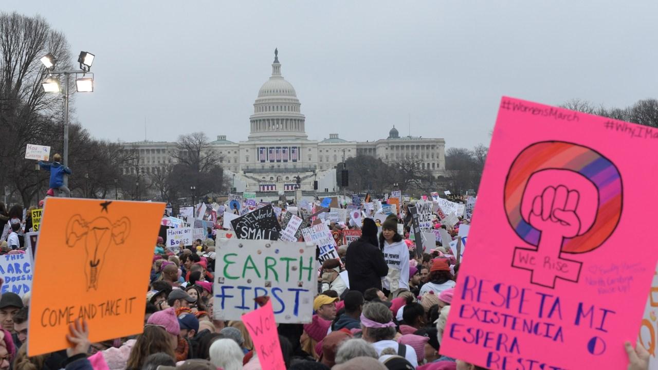 Protestas contra Donald Trump en Washington (Notimex)