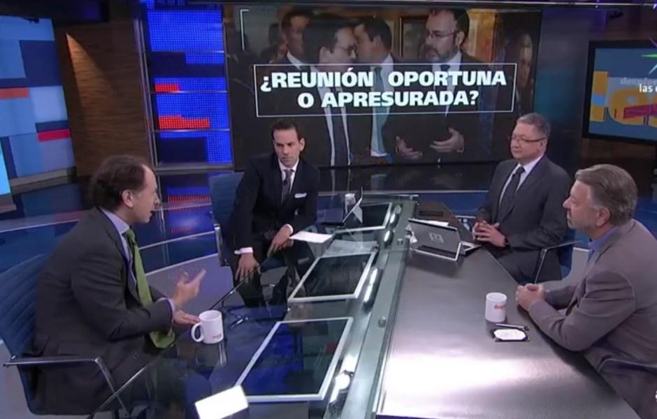 Javier Tello y Jorge Castañeda en la mesa de debate en Despierta con Loret. (Noticieros Televisa)