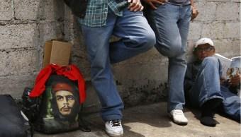 Migrantes en los alrededores de México en su ruta a Estados Unidos. (AP,/Archivo)