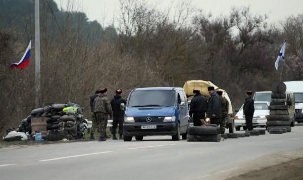 Paso fronterizo en Crimea