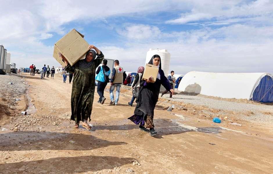 Desplazados, refugiados, Irak, Estado Islámico, inmigrantes