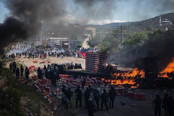 El enfrentamiento entre pobladores y policías en Nochixtlán ocurrió el 19 de junio del año pasado. (Getty Images, archivo)