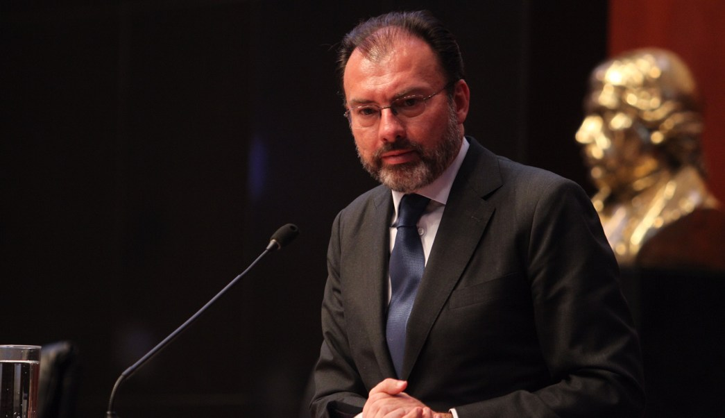La comparecencia del canciller Videgaray duró casi cinco horas. (Notimex)
