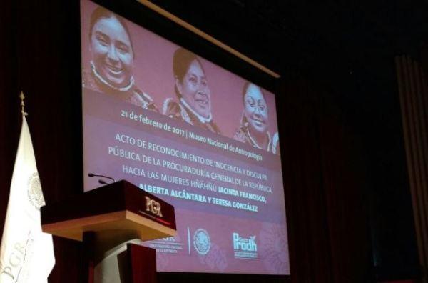 Acto de disculpa pública a mujeres indígenas (Twitter @PGR_mx)