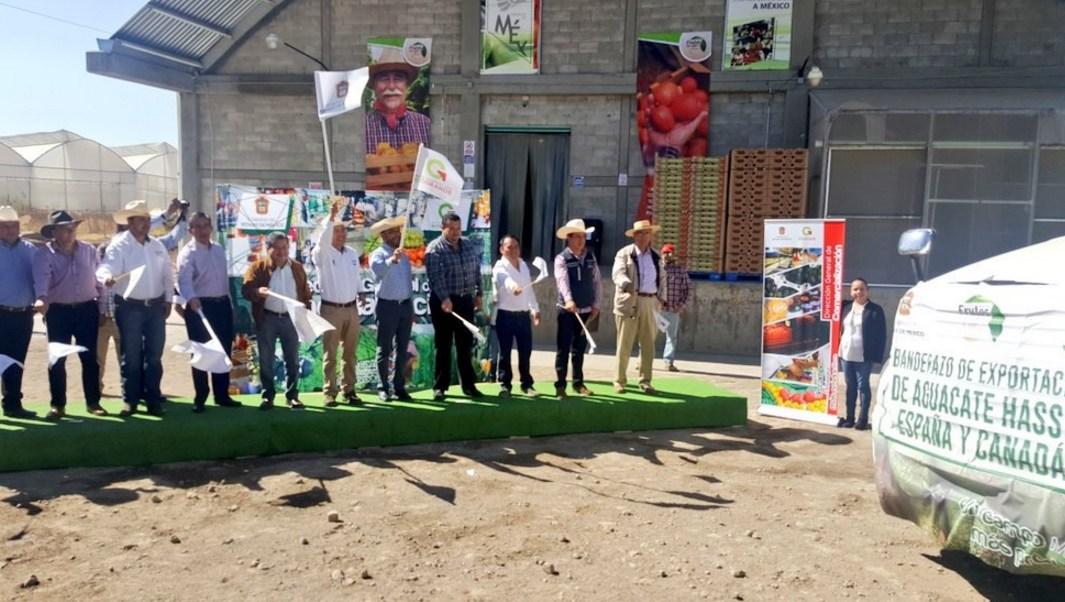 Productores del Estado de México dieron el banderazo de salida al primer cargamento de aguacate que tiene como destino Canadá y EU.