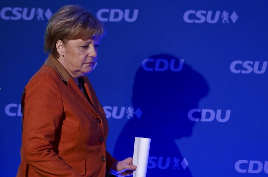 La canciller alemana, Angela Merkel, llega a una conferencia de prensa en Munich (Reuters)