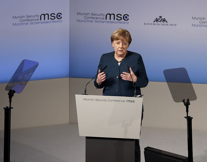 Merkel realizó estas declaraciones en su intervención en la Conferencia de Seguridad de Múnich. (AP)