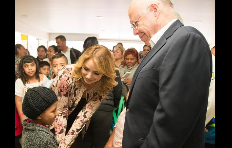 Angélica Rivera de Peña visitó el Hospital Infantil de México, Federico Gómez el pasado 1 de febrero