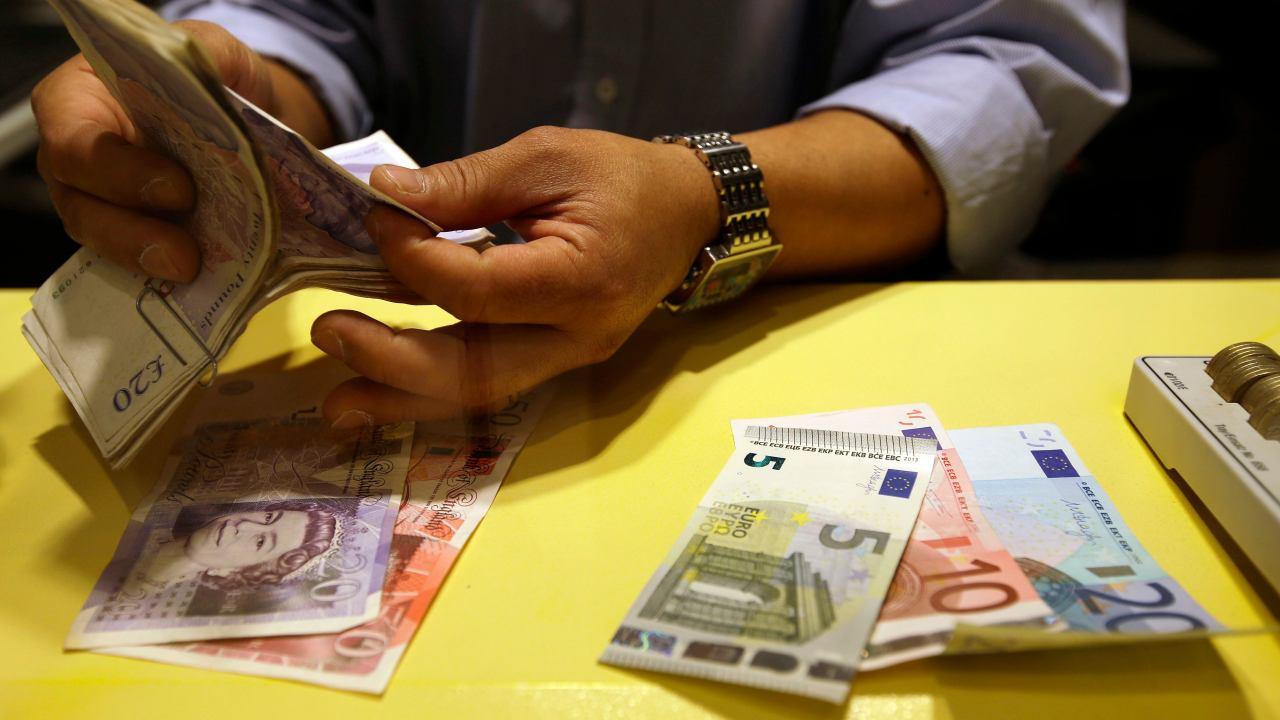 Foto ilustrativa con billetes de circulación en la zona euro (AP)