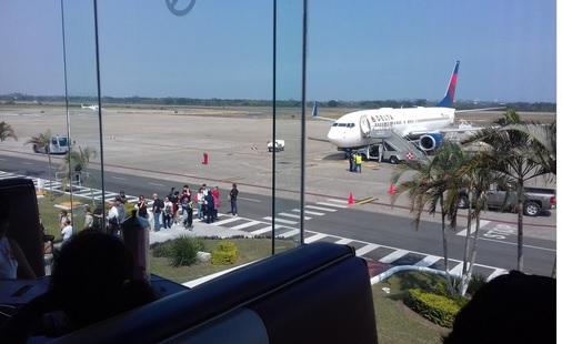 La aeronave procedía de Estados Unidos y tenía como destino la Ciudad de México