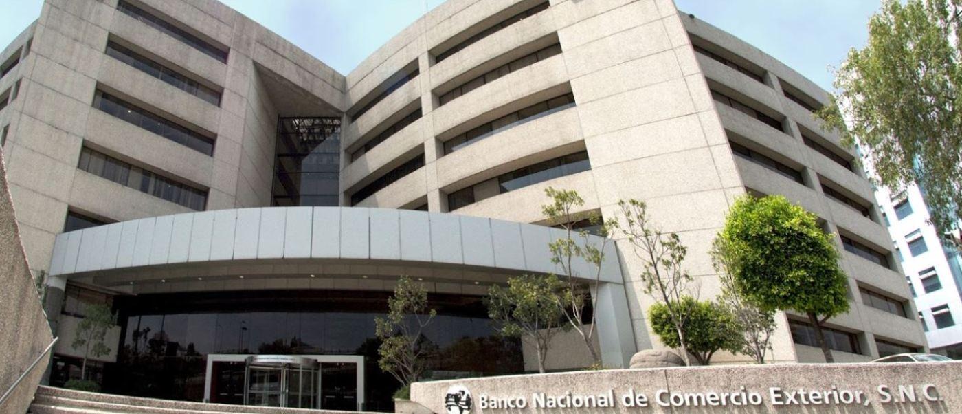 Bancomext contará con alrededor de 263 mil millones de pesos con lo que podrá ofrecer créditos, lo que representa 16.6% más recursos que el año pasado (Bancomext)