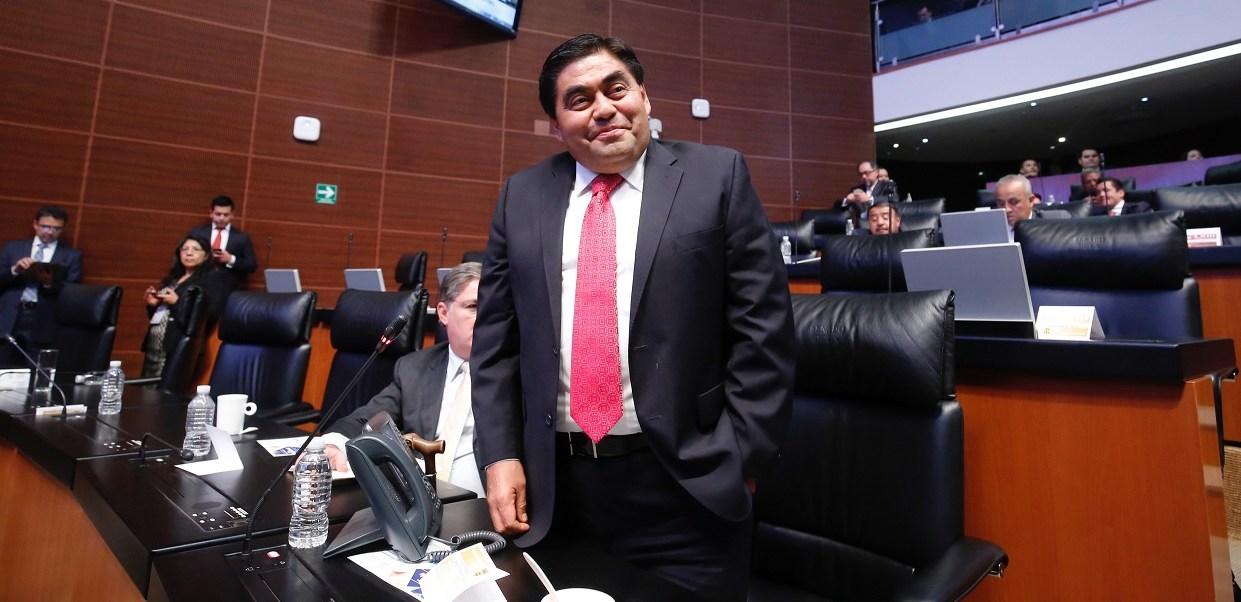 Luis Miguel Barbosa, senador de la República, estará el lunes en un mitin de la candidata de Morena al gobierno mexiquense. (Senadores PRD/Archivo)
