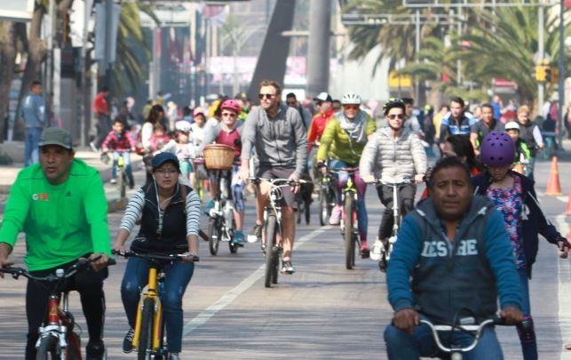 La ruta dominical tendrá una ruta de 49 kilómetros, quedando inhabilitado el tramo que va de avenida Julio Verne al Ángel de la Independencia (Notimex/Archivo)