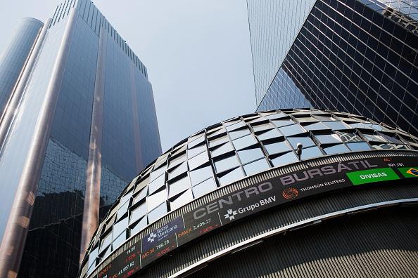 Vista del exterior de la Bolsa Mexicana de Valores (Getty Images)