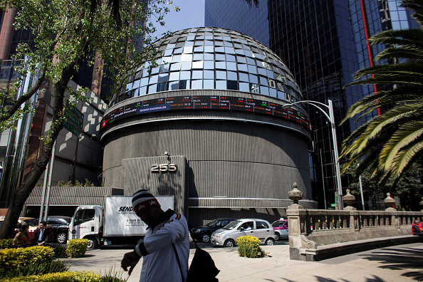 Vista de la Bolsa Mexicana de Valores desde el exterior (Getty Images)