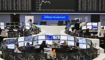 Vista del piso de remates de la Bolsa alemana (Getty Images)