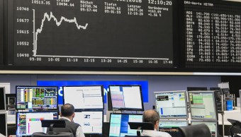Piso de remates de la Bolsa de Frankfurt (Getty Images)