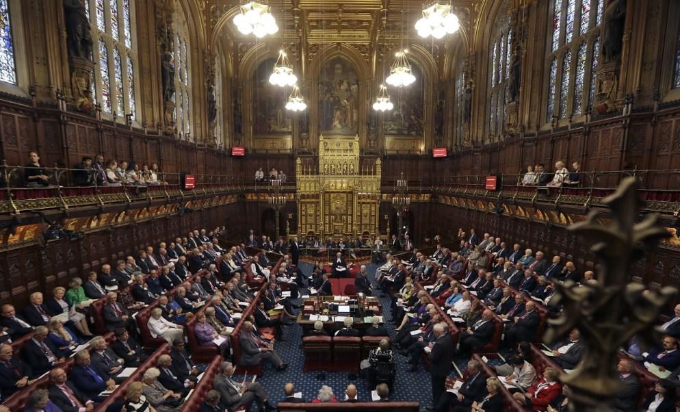 En la Cámara de los Lores durante una sesión en el Parlamento (Getty Images/archivo)