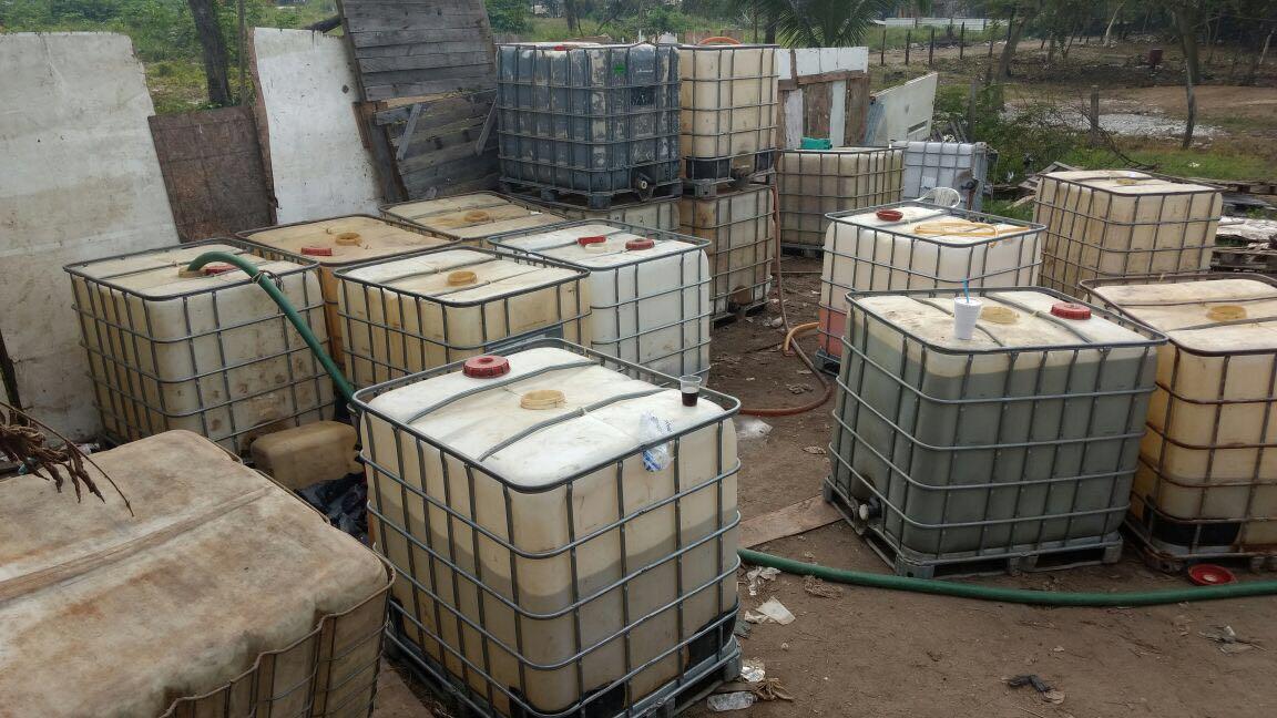 Decomisan de 14 mil 500 litros de hidrocarburo en Morelos