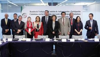 El Comité de Participación Ciudadana del Sistema Nacional Anticorrupción sostuvo su primera reunión de trabajo con senadores. (Senado de la República)