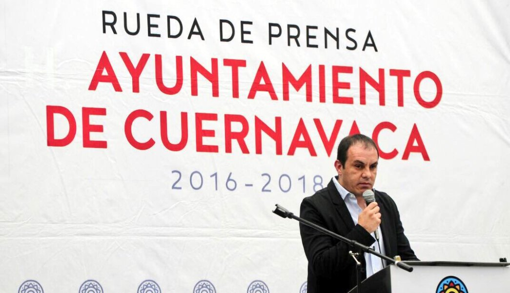 Cuauhtémoc Blanco, alcalde de Cuernavaca, Morelos. (Twitter: @CuauhtemocBco)