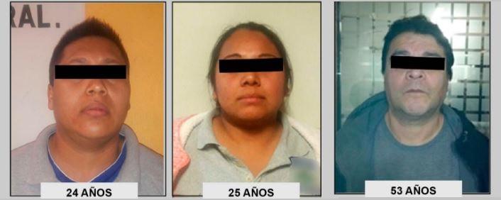 Los tres detenidos eran administradores y encargados de los hoteles y presuntamente recibían comisión cada que las víctimas llevaban un cliente al cuarto. (PGJ-CDMX)