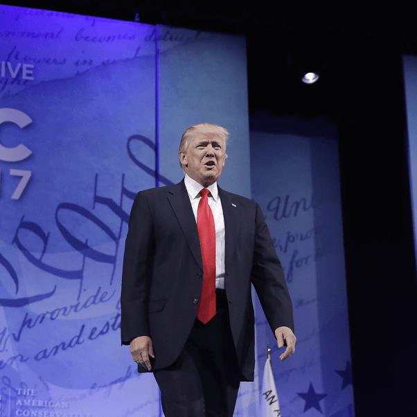 Donald Trump, presidente de Estados Unidos, participa en la Conferencia anual de Acción Política Conservadora (CPAC). (AP)
