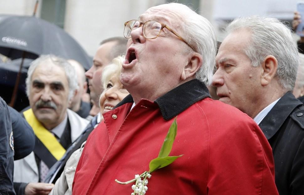Jean-Marie Le Pen, fundador del partido del Frente Nacional de Francia, en París (AP/archivo)