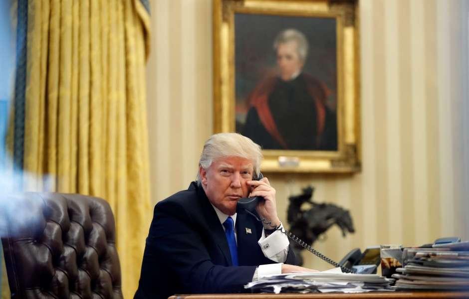teléfono, presidente, Estados Unidos, Donald Trump, habla, teléfono