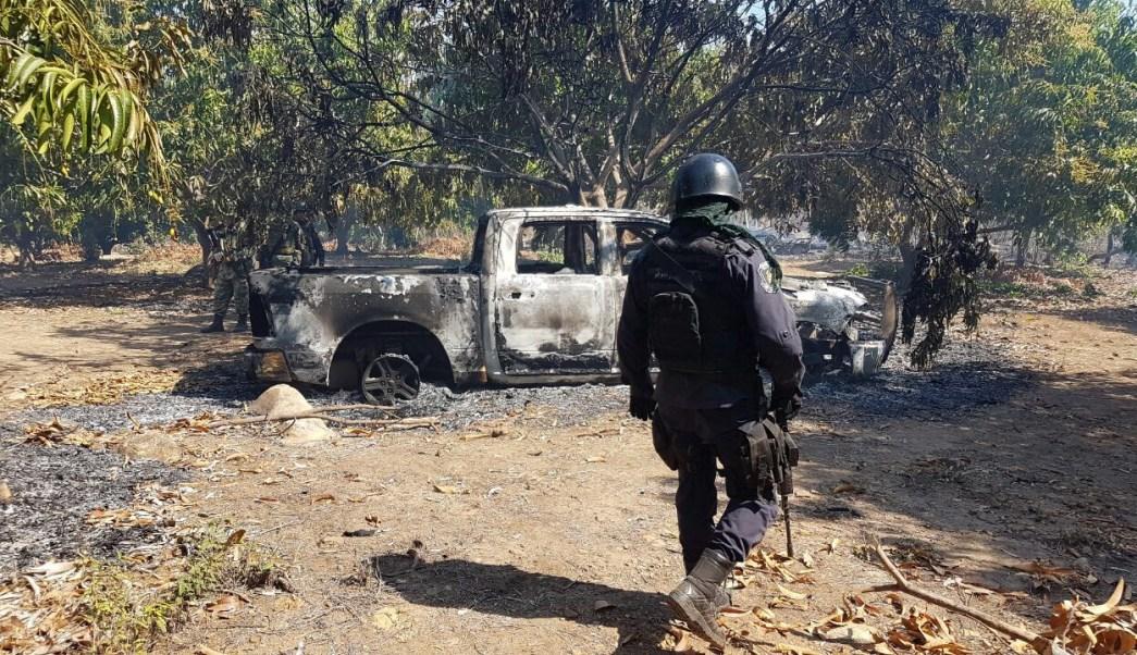 Enfrentamiento en la comunidad El Tule, en lo alto de la sierra de Tecpan, Guerrero.