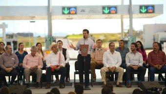 El presidente, Peña Nieto, habló al entregar la autopista Tepic-San Blas y el libramiento norte de Tepic.