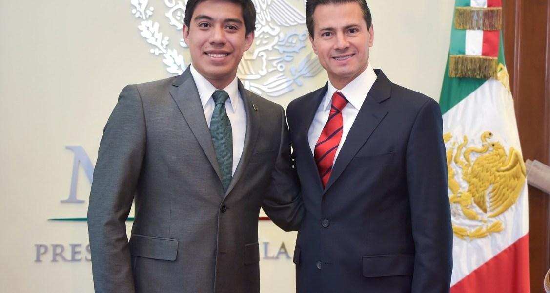 El presidente Peña Nieto felicitó a Yair Piña por poner el nombre de México en alto.